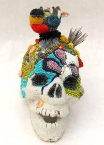 skull beaded